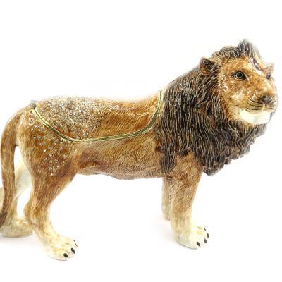 Coffret à Bijoux 'Lion' marron