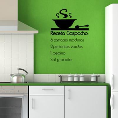 Pick and Stick Sticker Mural déco Gazpacho - 60 x 55 cm, Noir