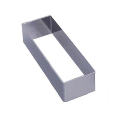DeBuyer - Cercle Forme inox - Rectangle angles vifs : Longueur 12 cm