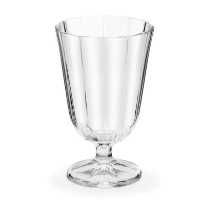 Verre à eau à pied transparent de 25 cl - Lot de 6 ANNA