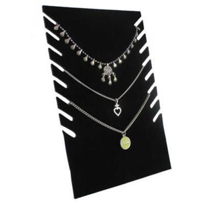 Porte bijoux pliant pour 8 chaines velours noir