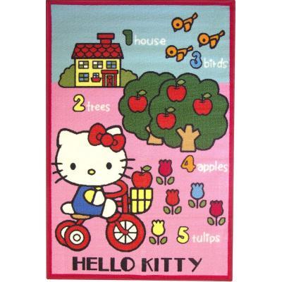 HELLO KITTY - Tapis Hello Kitty Paysage Maison 80x120cm