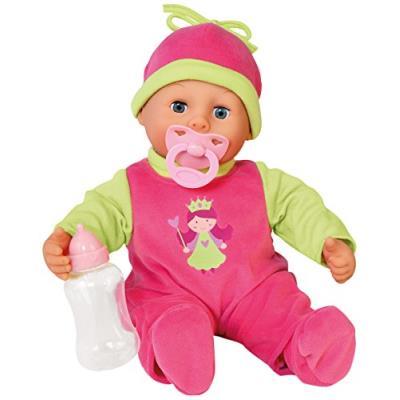 Bayer design - 93806 - poupon bébé - premiers mots avec 24 sons - rose/vert - 38 cm