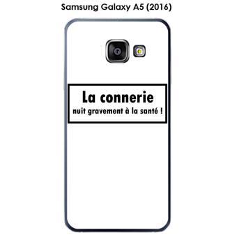 Coque Samsung Galaxy A5 (2016) - A510F design Message La connerie, Texte noir