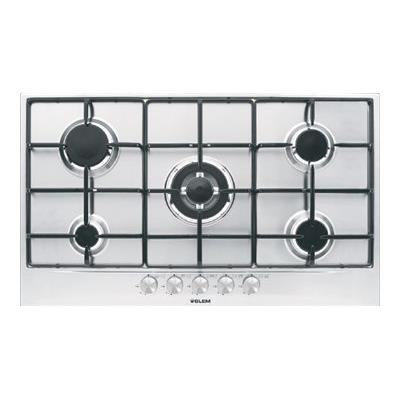 Glem GT955IX table de cuisson au gaz - 90 cm - inox - inox