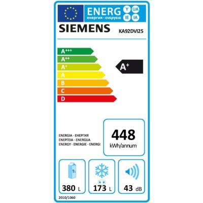 7d9f9ad644eef -541€29 sur Refrigerateur americain Siemens KA92DVI25 - Achat & prix | fnac