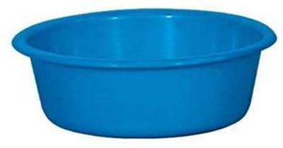 Aluminium et plastique cuvette 28 ronde 4l*bleu *rivaton