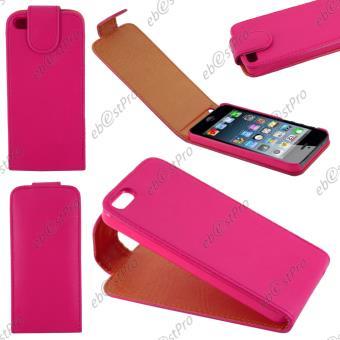 ebestStar pour Apple iPhone 5S 5 Houe Coque Etui Simili Cuir a Rabat vertical Couleur Rose
