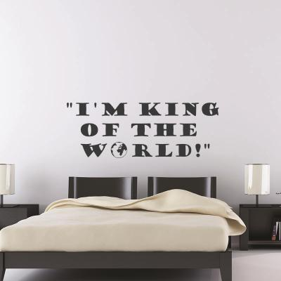 Pick and Stick Sticker Mural I'm King - 25 x 55 cm, Noir