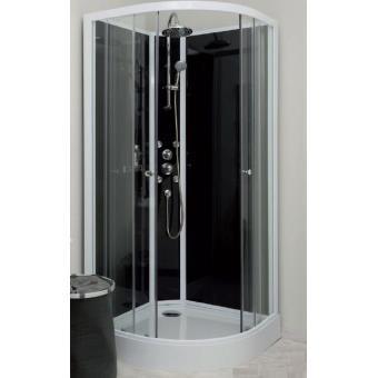aqua cabine de douche 1 4 de cercle acc s d 39 angle. Black Bedroom Furniture Sets. Home Design Ideas