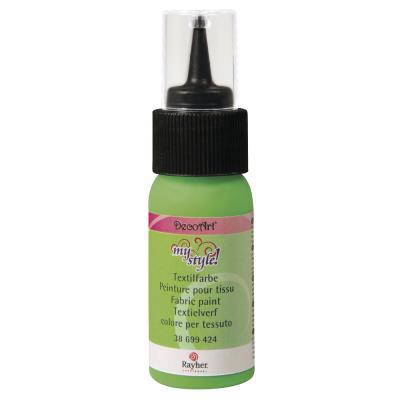 Peinture pour tissu - Vert fluo - 29 ml