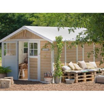 Grosfillex abri de jardin pvc sherwood 11m d cor bois mobilier de jardin achat prix - Abri jardin resine grosfillex calais ...