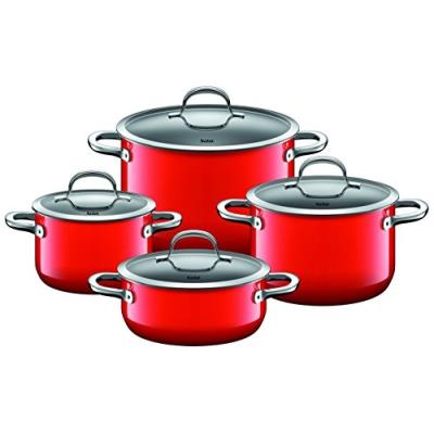 Silit 15175811 set de casseroles 4 pièces rouge passion