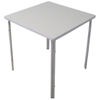 Table de jardin en acier epoxy, coloris ivoire - Dim : 71 x 70 x 70 ...