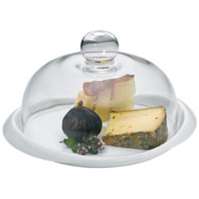 Kela cloche verre + plateau a fromage
