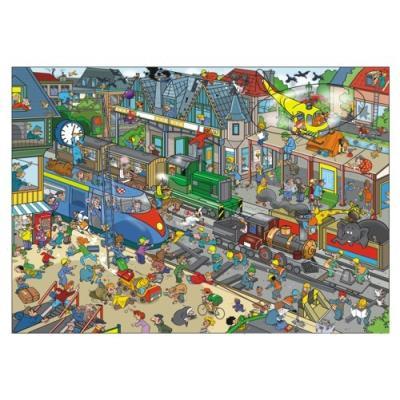 Puzzle c'est la vie la station de train 1000 pièces