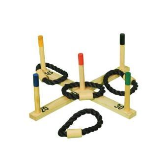 Jeu de lancer d 39 anneaux en bois jeu d 39 adresse exterieur for Jeu exterieur bois