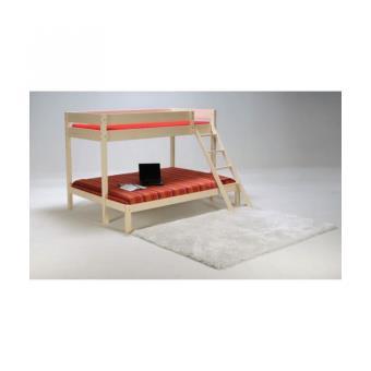 trio lit superpos 3 places 90 140x190cm bois brut lit pour enfant achat prix fnac. Black Bedroom Furniture Sets. Home Design Ideas