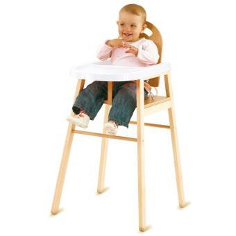 Combelle chaise haute lili en bois de h tre massif vernis naturel table et chaise achat - Chaise haute lili combelle ...