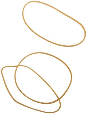 Bracelet Caoutchouc Blond 80 Mm - Boite De 100g