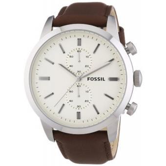 montre fossil fs4865 montre cuir marron chronographe. Black Bedroom Furniture Sets. Home Design Ideas