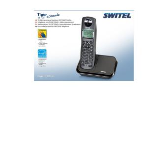 Téléphone Sans Fil Simple Numérique Faibles Ondes à économie D - Téléphone sans fil longue portée