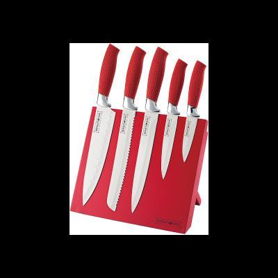 Set de 5 couteaux - Céramique - Rouge