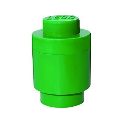 Room copenhagen rc40301734 lego boîte de rangement ronde 1 brique plastique vert 45 x 35 x 25 cm