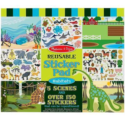 Autocollants 150 Stickers repositionnables thème Les Animaux Enfants 3 ans +
