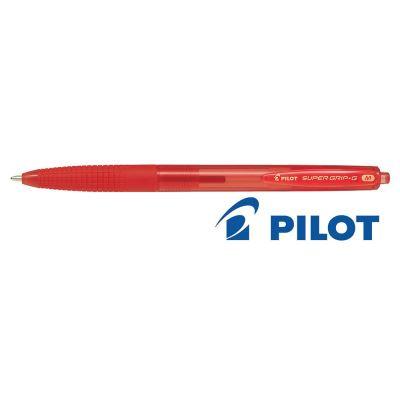 Stylo à bille Pilot Pen Super Grip G Rouge