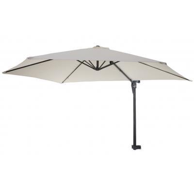 Parasol de luxe 100% en polyester 180g / m² coloris crème - Dim : L 300 x P 280 cm -PEGANE-
