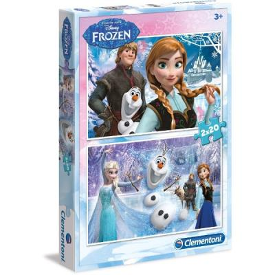 Frozen disney puzzle reine des neiges clementoni 2 * 20 pieces (2 puzzles differents) pcl-07017