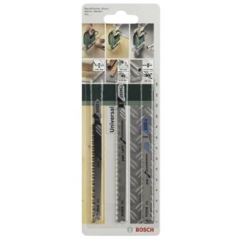 Set de 3 lames pour scie sauteuse Bosch Queue Progressor T 2609256743