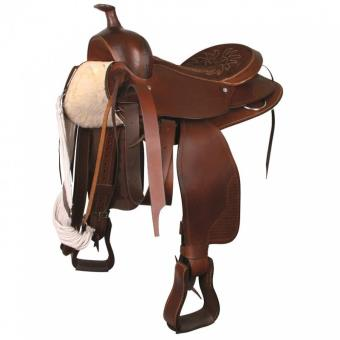 Selle western grand cheval 16 / 40cm Marron