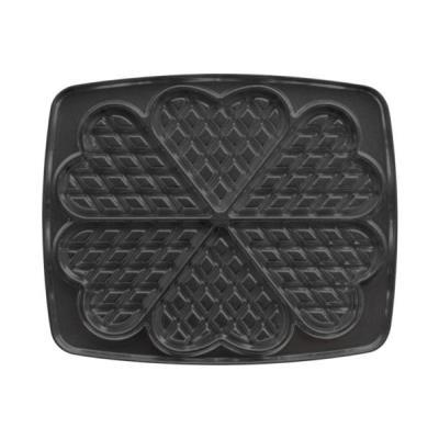 Jeu de plaques Super 2 Antiadhésives Lagrange pour 6 gaufres cœur 030522 Noir