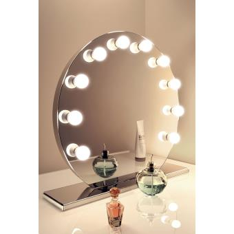 miroir de maquillage hollywood finition miroir lampes del blanc froid k251ww achat prix fnac. Black Bedroom Furniture Sets. Home Design Ideas