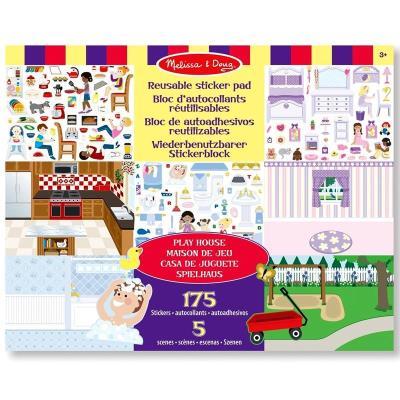 Autocollants 175 Stickers repositionnables thème La Maison Enfants 3 ans +
