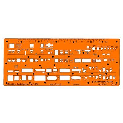 Trace sanitaires 1/100e modèle i - graphoplex