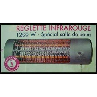 Reglette de chauffage rayonnant radiant radiateur - Chauffage infrarouge salle de bain ...