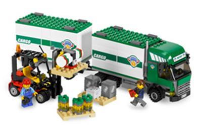 7733 Le camion et son chariot élévateur, Lego City