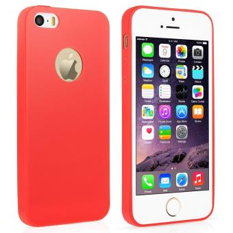 Coque Silicone Couleurs IPHONE SE APPLE Mat Ultra Mince Protection Gel Souple Houe Etui ROUGE