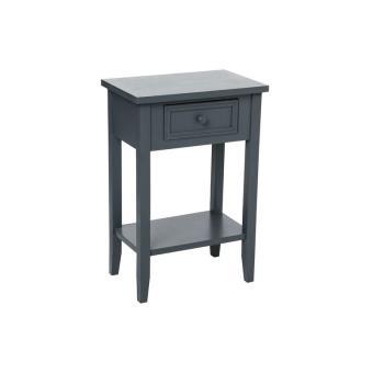 meuble de chevet - table de nuit - gris - 1 tiroir + 1 étagère