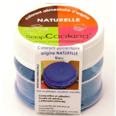 Scrapcooking Colorant alimentaire naturel bleu naturel 4208