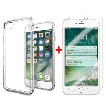 CABLING Houe Etui Coque TPU Ultra Slim Silicone Transparent Film Vitre Protection Ecran Verre Trempe pour iPhone 6 6s PLUS