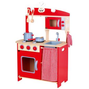 cuisine enfant en bois rouge cuisine achat prix fnac. Black Bedroom Furniture Sets. Home Design Ideas