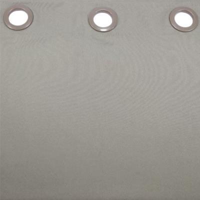 Douceur d'intérieur 1601053 rideau oeillets polyester uni essentiel taupe 140 x 260 cm