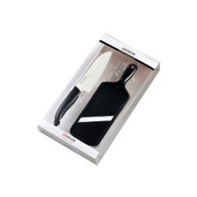 Coffret céramique noir : couteau + mandoline, Kyocera