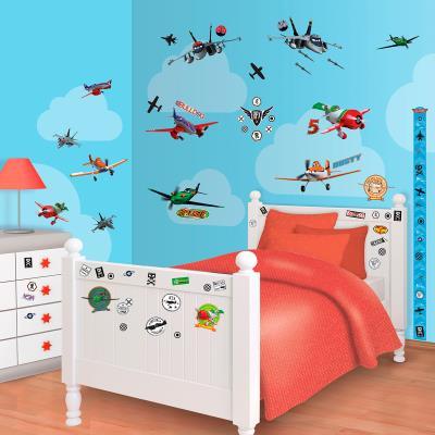 65 Stickers Planes Disney Walltastic