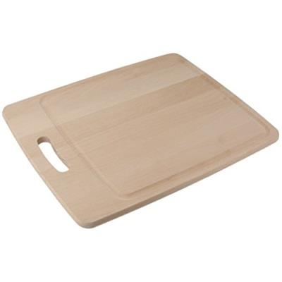 Fackelmann 31622 planche à découper bois de hêtre beige 38 x 30 x 1,4 cm