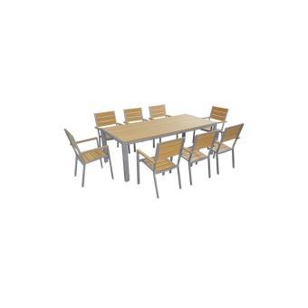 Table de jardin 8 places aluminium et polywood - Mobilier de ...